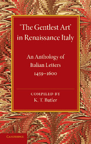 'The Gentlest Art' in Renaissance Italy