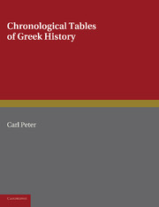 Chronological Tables of Greek History