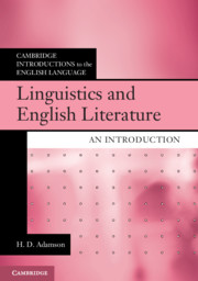 Linguistics and English Literature