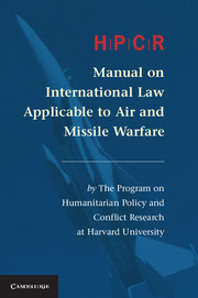 HPCR Manual on International Law Applicable to Air and Missile Warfare