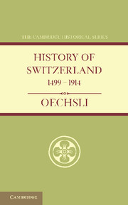 History of Switzerland 1499–1914