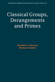 Classical Groups, Derangements and Primes