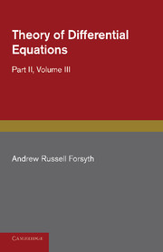 Theory of Differential Equations