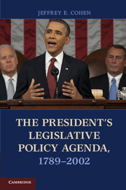 The President's Legislative Policy Agenda, 1789–2002