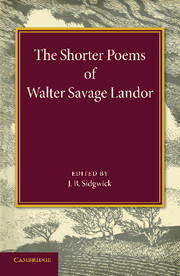 The Shorter Poems of Walter Savage Landor