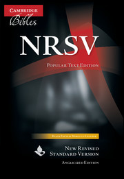NRSV Popular Text Edition, Black French Morocco Leather