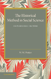 The Historical Method in Social Science