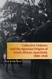 Collective Violence and the Agrarian Origins of South African Apartheid, 1900–1948