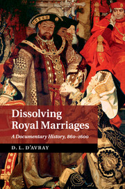 Dissolving Royal Marriages