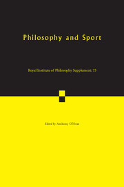 Philosophy and Sport