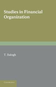 Studies in Financial Organization