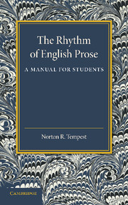 The Rhythm of English Prose