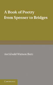A Book of Poetry from Spenser to Bridges