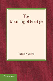 The Meaning of Prestige