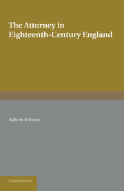 The Attorney in Eighteenth-Century England