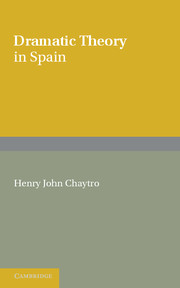 Dramatic Theory in Spain