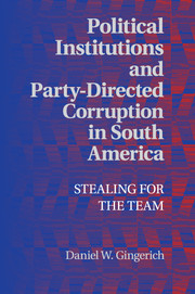 Political Institutions and Party-Directed Corruption in South America