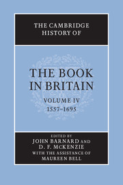 The Cambridge History of the Book in Britain