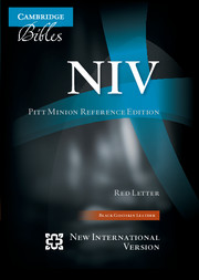 NIV Pitt Minion Reference Bible, Black Goatskin Leather, Red-letter Text, NI446:XR