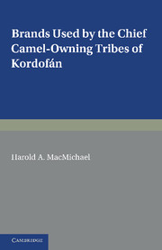 Brands Used by the Chief Camel-owning Tribes of Kordofán