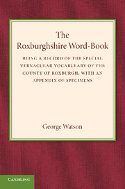 The Roxburghshire Word-Book