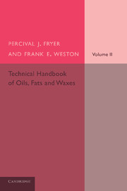 Technical Handbook of Oils, Fats and Waxes