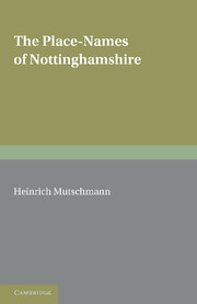 The Place-Names of Nottinghamshire