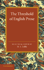 The Threshold of English Prose