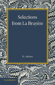 Selections from La Bruyère