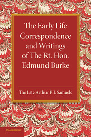 The Early Life Correspondence and Writings of The Rt. Hon. Edmund Burke