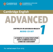 Cambridge English Advanced 1 for Revised Exam from 2015