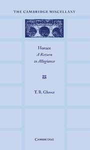 Horace: A Return to Allegiance