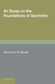 An Essay on the Foundations of Geometry