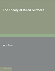 The Theory of Ruled Surfaces