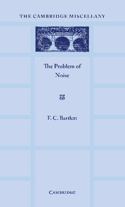 The Problem of Noise