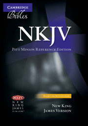 NKJV Pitt Minion Reference Bible, Black Calf Split Leather, Red-letter Text, NK444:XR