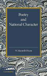 Poetry and National Character