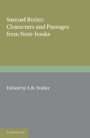 Samuel Butler: Characters and Passages from Note-Books
