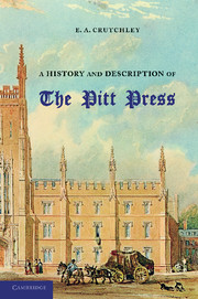 A History and Description of the Pitt Press