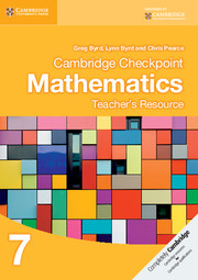Cambridge Checkpoint Mathematics