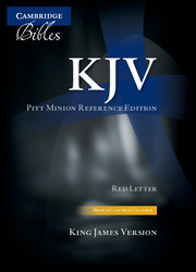 KJV Pitt Minion Reference Edition KJ444:XR brown calf split leather