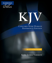 KJV Concord Wide Margin Reference Bible, Black Calf Split Leather, KJ764:XM