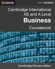 Cambridge International AS and A Level Business Coursebook Cambridge Elevate Edition (2 Years)