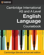Cambridge International AS and A Level English Language Coursebook Cambridge Elevate enhanced edition (2 Years)