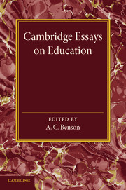 Cambridge Essays in Education