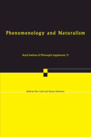 Phenomenology and Naturalism