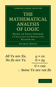 The Mathematical Analysis of Logic