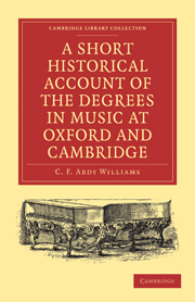 A Short Historical Account of the Degrees in Music at Oxford and Cambridge