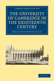 The University of Cambridge in the Eighteenth Century