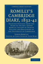 Romilly's Cambridge Diary, 1832–42